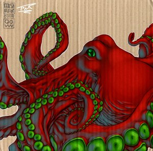 Cardboard Octopus: Monk by Nubry