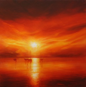 Sunset Painting by Stella Dunkley